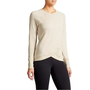 Athleta Criss Cross Sweatshirt Women's Off-White M